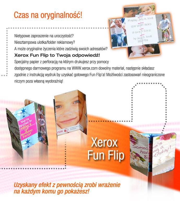Xerox Fun Flip (papier perforowany)
